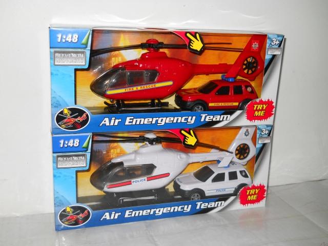 Team - 1:48 Záchranáři Auto A Vrtulník 2Ass