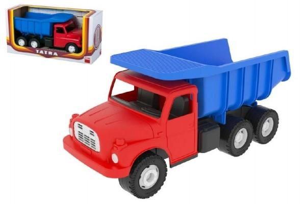 TEDDIES - Auto Tatra 148 plast 30cm červenomodrá sklápěč v krabici