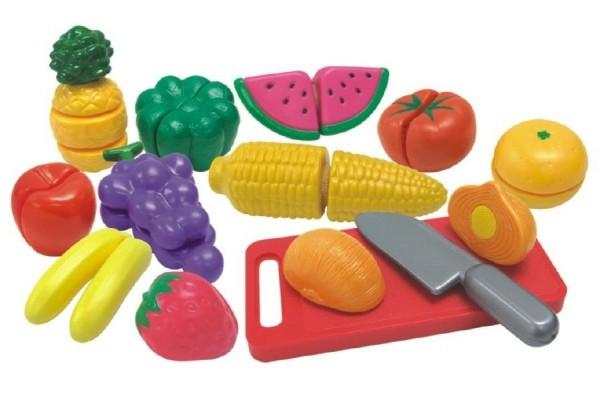 TEDDIES - Krájecí ovoce a zelenina 40x27x6cm s nádobím plast 25ks v krabici