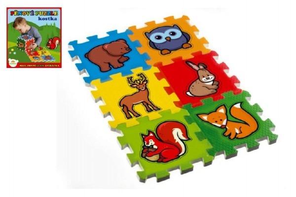 TEDDIES - Pěnové puzzle Moje první lesní zvířátka 15x15x1,2cm 6ks MPZ