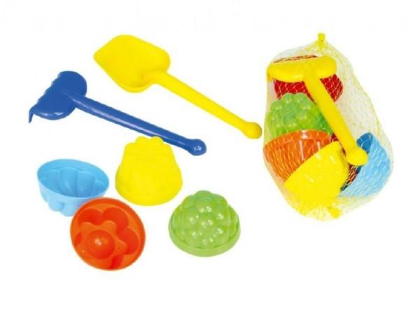TEDDIES - Sada na písek plast lopatka, hrabličky