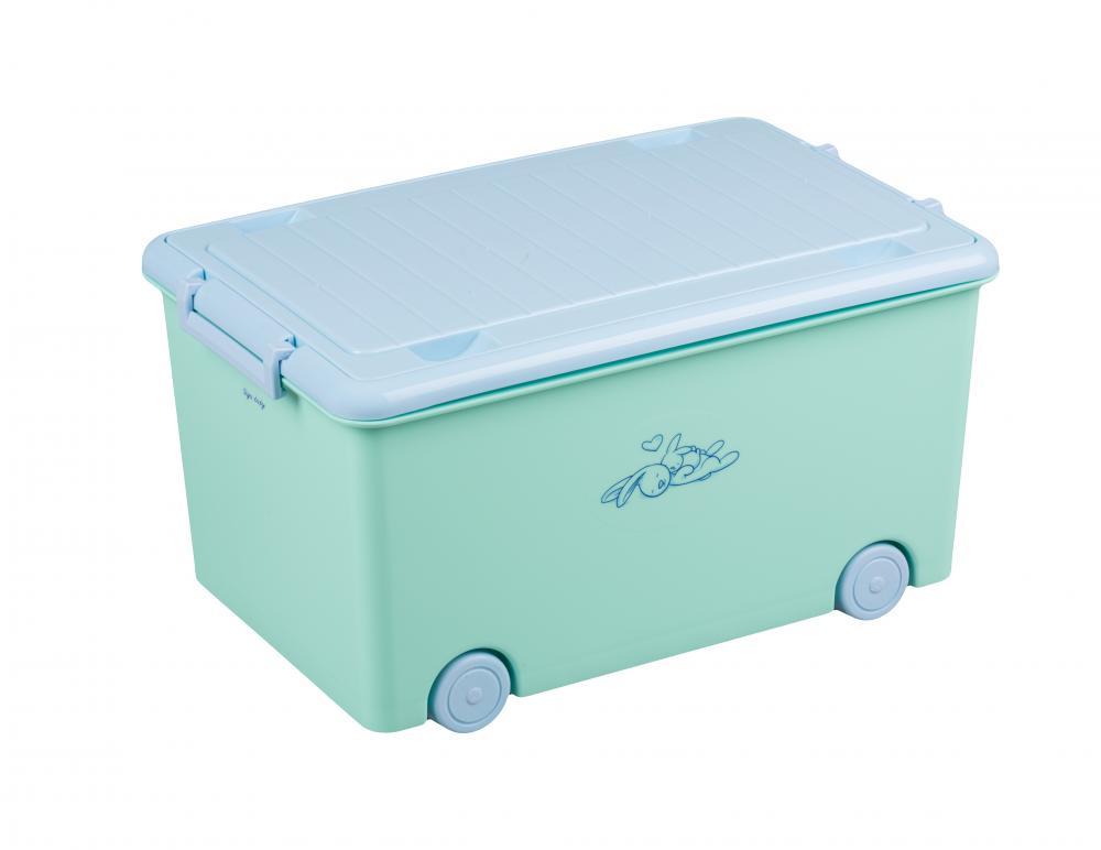 TEGA BABY - Box na hračky zajíček - junior mint