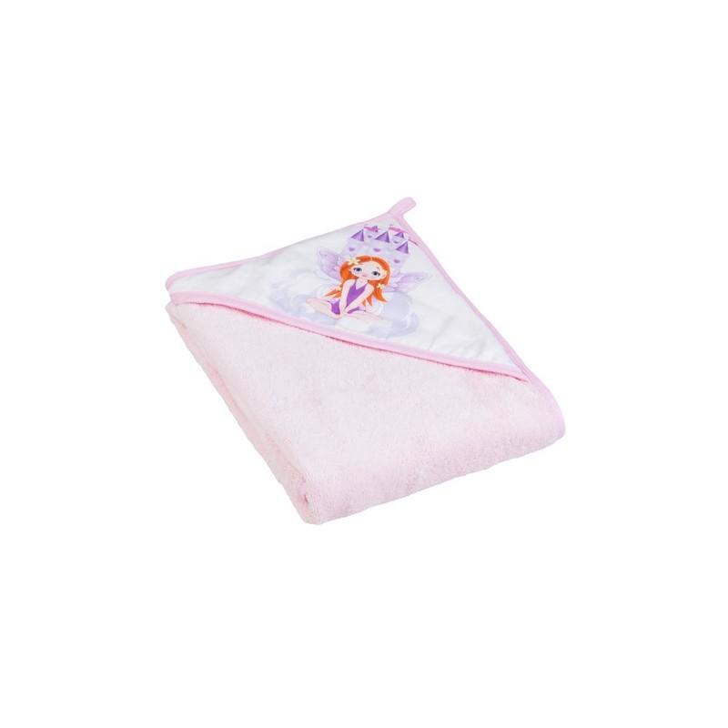 TEGA BABY - Dětská osuška s kapucí Little princess 100x100, růžová
