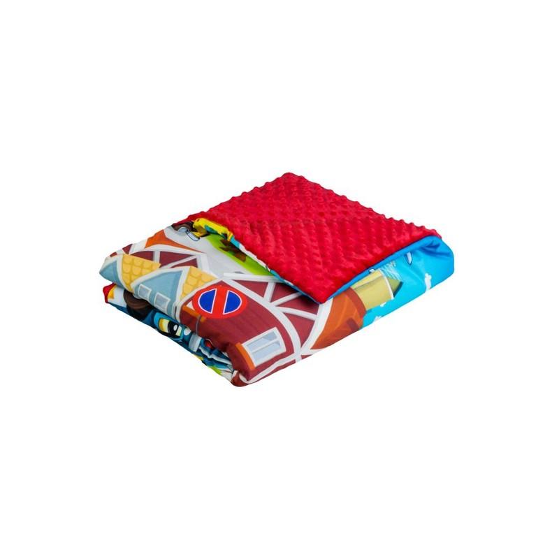 TEGA BABY - Dětská přikrývka 75x100 Cars, červený