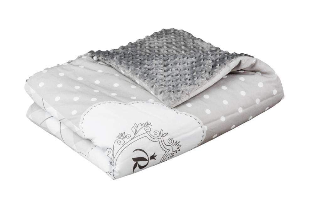 TEGA BABY - Dětská přikrývka 75x100 Royal, šedý
