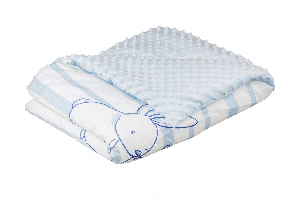 TEGA BABY - Dětská přikrývka 75x100 Zajíček, modrý