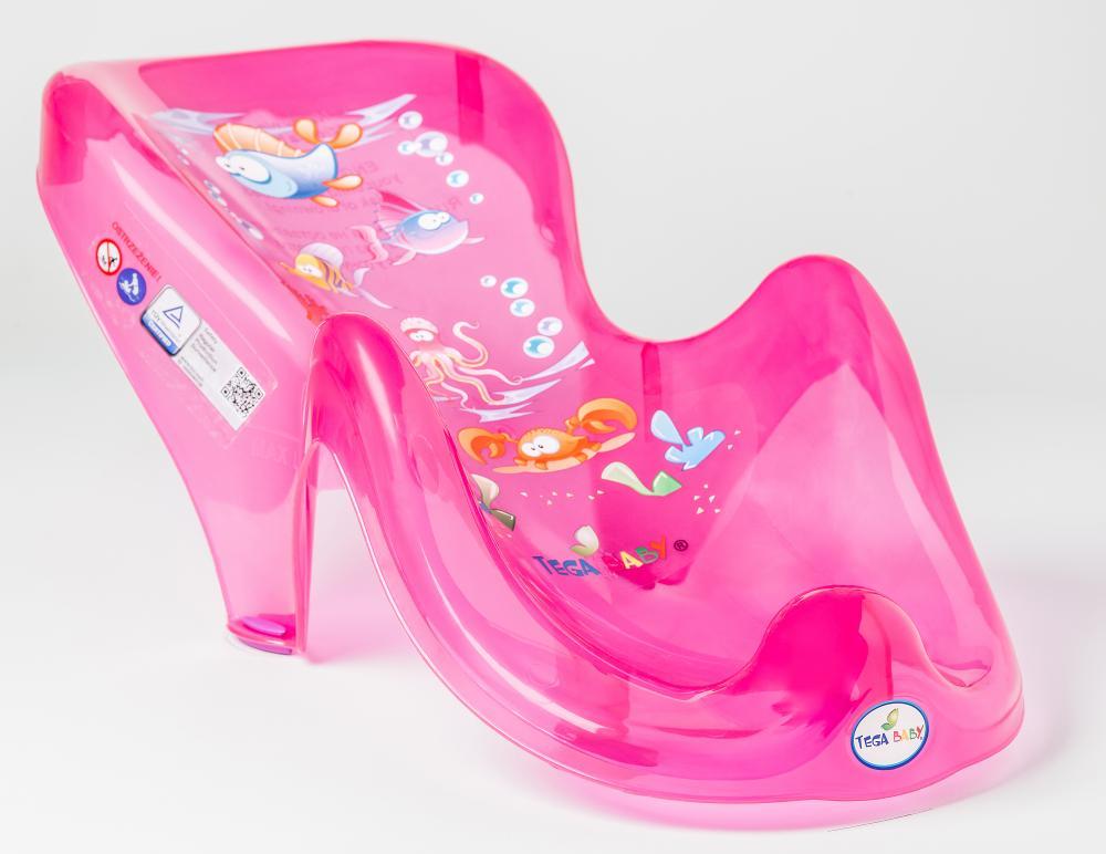 TEGA BABY - Podložka do vany Aqua růžová