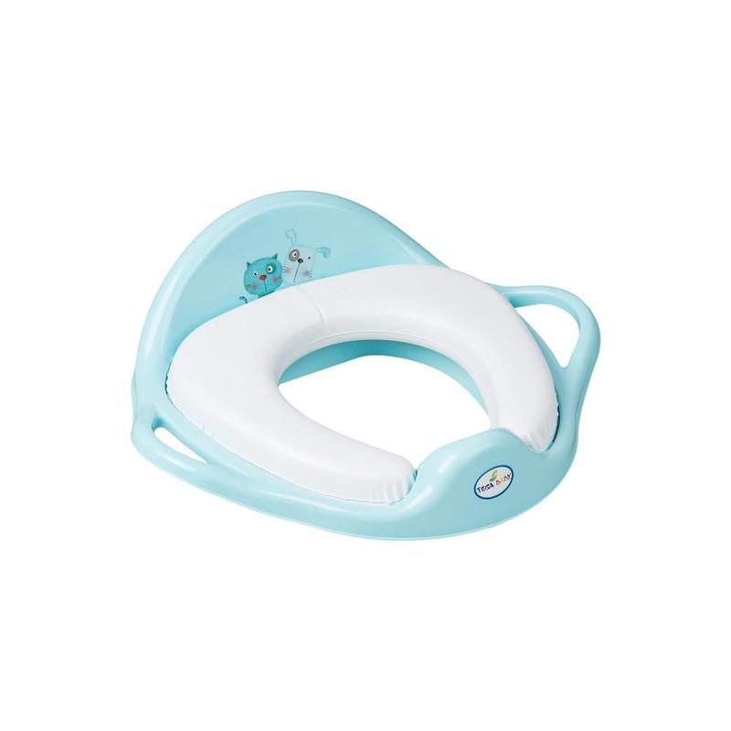 TEGA BABY - redukce na WC měkká Pes a kočka modrá