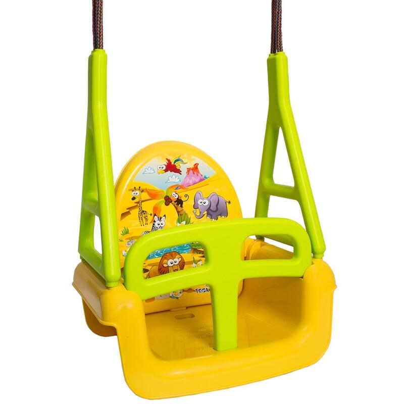 TEGA - Dětská houpačka 3v1 safari Swing yellow