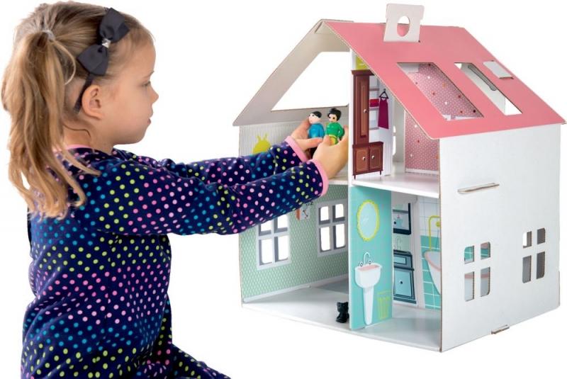 TEKTORADO - Dětský kartonový domeček Tektorado pro panenky