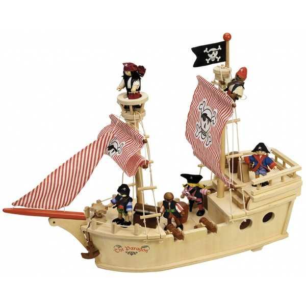 TIDLO - Dřevěná pirátská loď