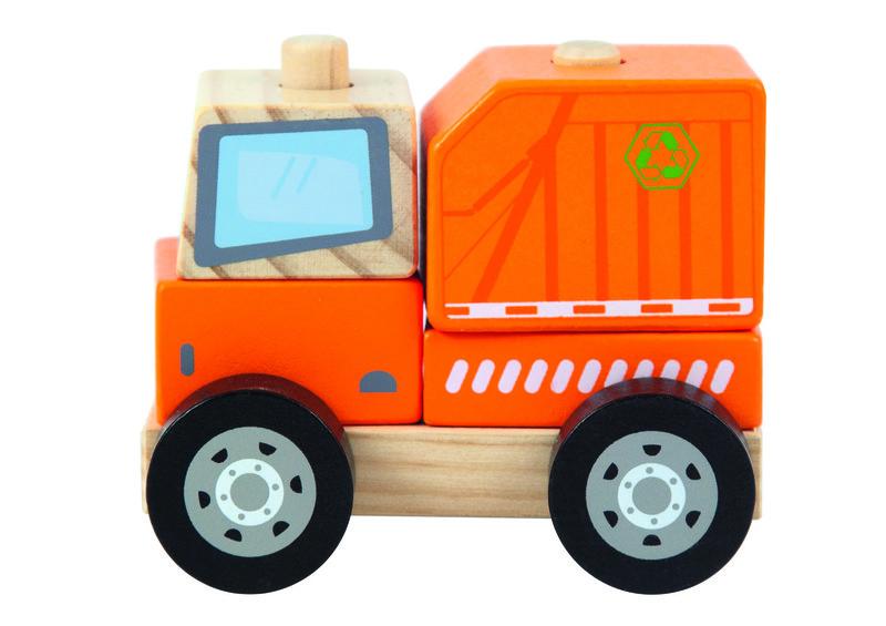 TREFL - Dřevěná hračka popelářský vůz