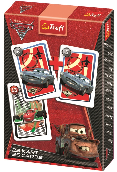 TREFL - Karty Černý Petr - Auta 2 (Cars 2)
