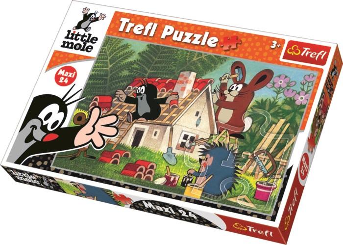TREFL - Krtek a stavba puzzle maxi 24