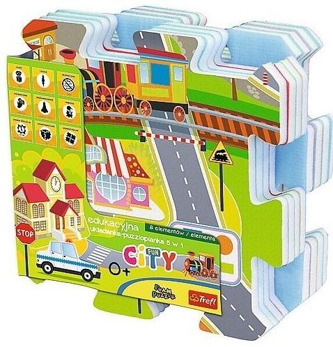 TREFL - pěnové puzzle Město