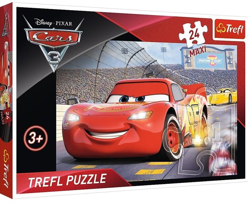 TREFL - Puzzle 24 Maxi Šampion Disney Cars 3
