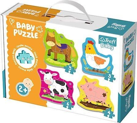 TREFL - Puzzle baby classic zvířátka na farmě
