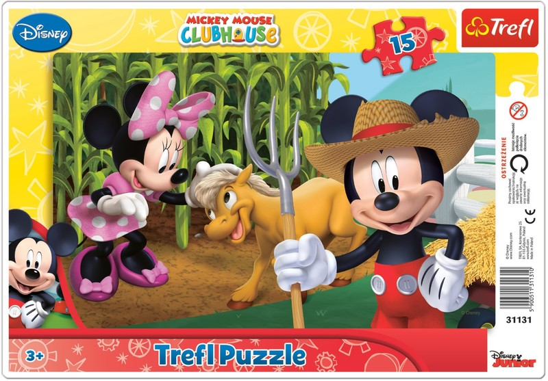 TREFL - Puzzle Mickeyho klubík: Na farmě 15 dílků