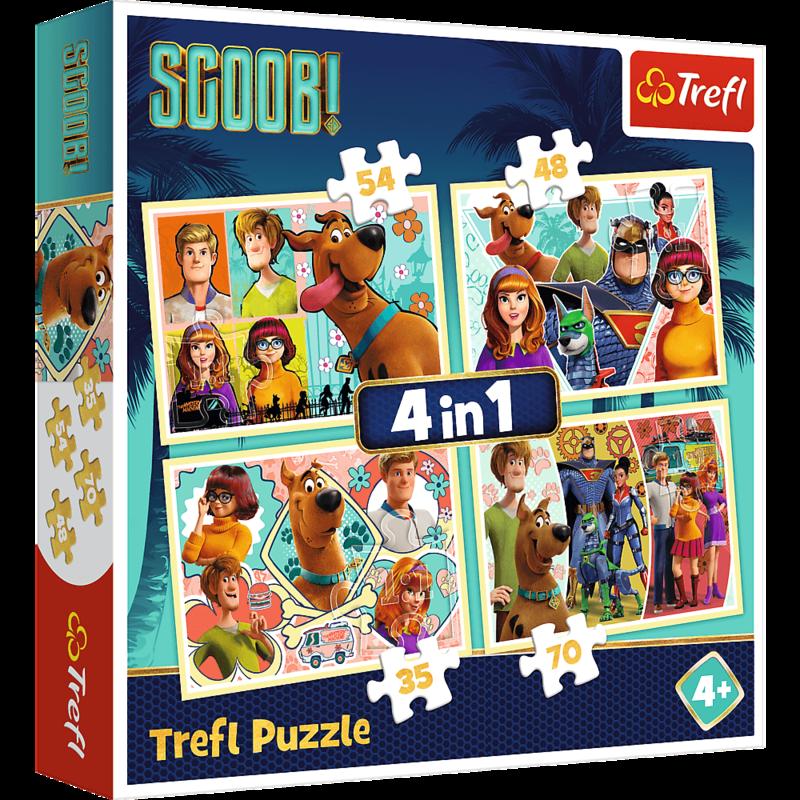 TREFL - Puzzle Scooby Doo a přátelé 4 v 1