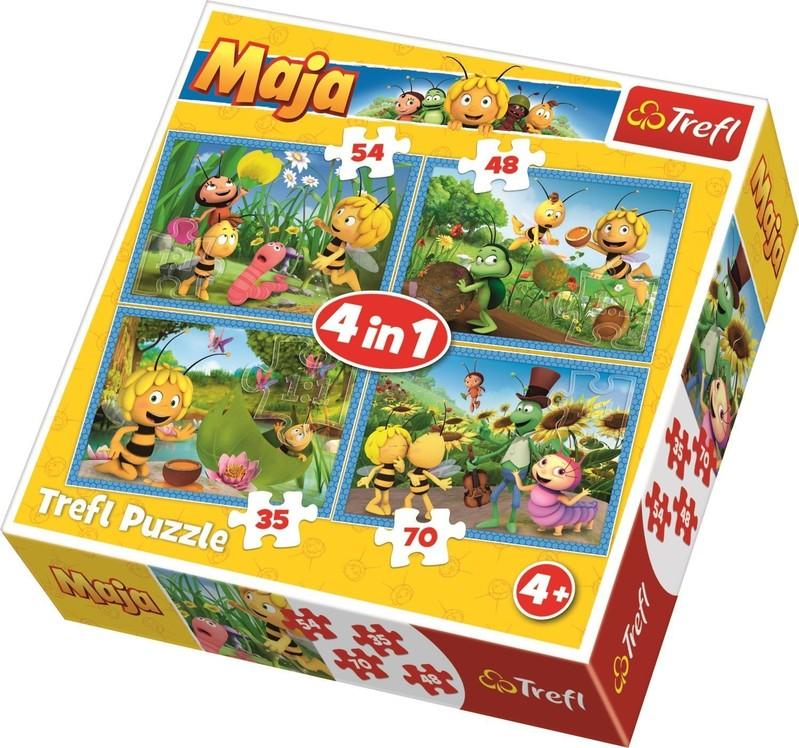TREFL - Puzzle Včelka Mája 4v1
