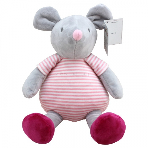 TULILO - Plyšová hračka Myška, 20 cm - šedá
