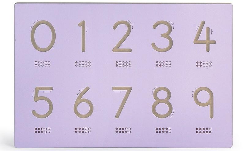 VIGA - dřevěná tabule čísla 60x40cm