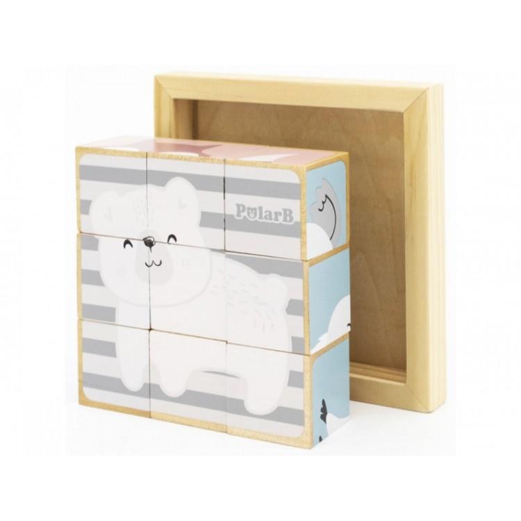 VIGA - Dřevěné kostky 9ks