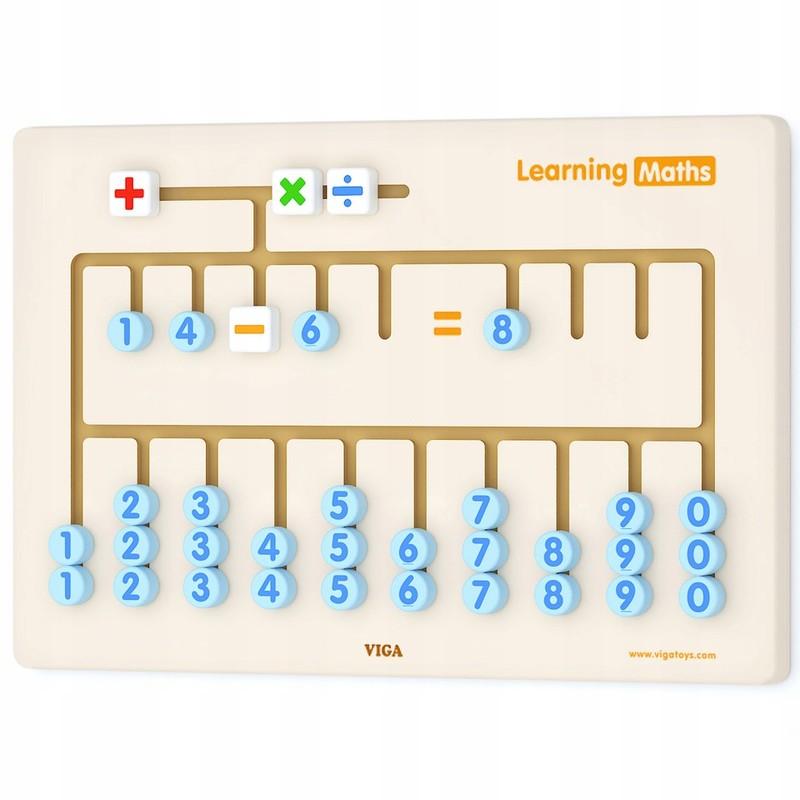 VIGA - nástěnná dřevěná hra učíme se počítat 60x40cm
