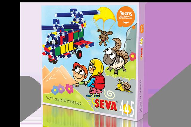 SEVA - stavebnice 445 dílků