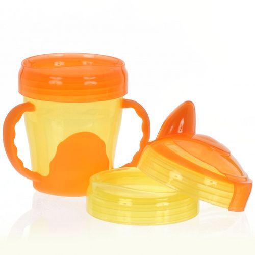 VITAL BABY - Dětský výukový 3 dílný hrnek, oranžový