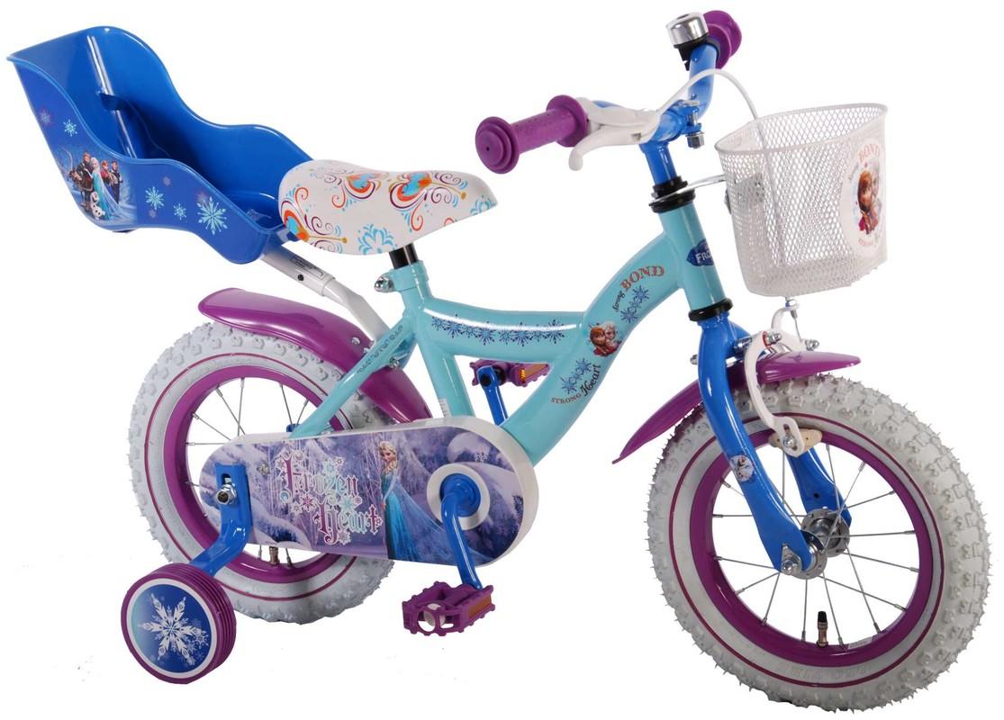 """VOLARE - Dětské kolo, Frozen 12 """"Banana, Blue, složený na 95%"""