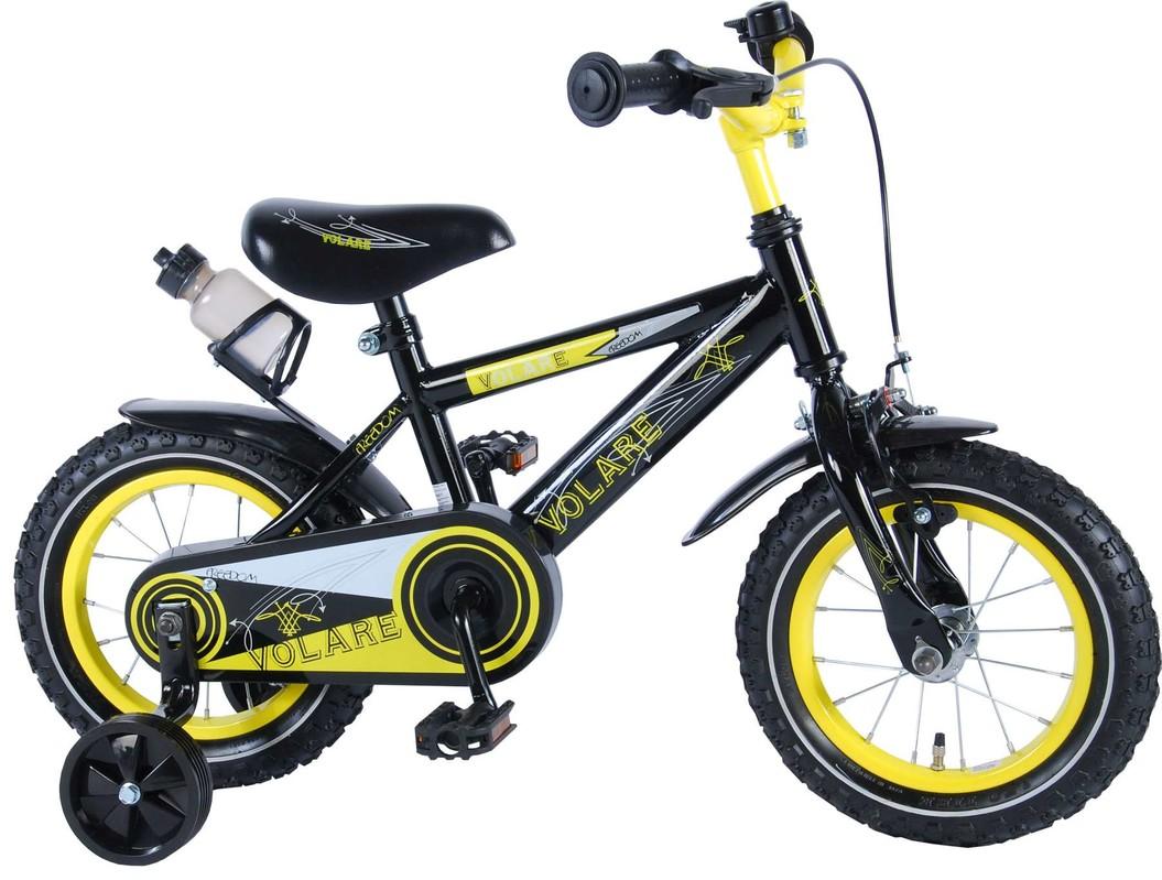 """VOLARE - Dětské kolo, Freedom,, 12 """"- černo -žlutý"""