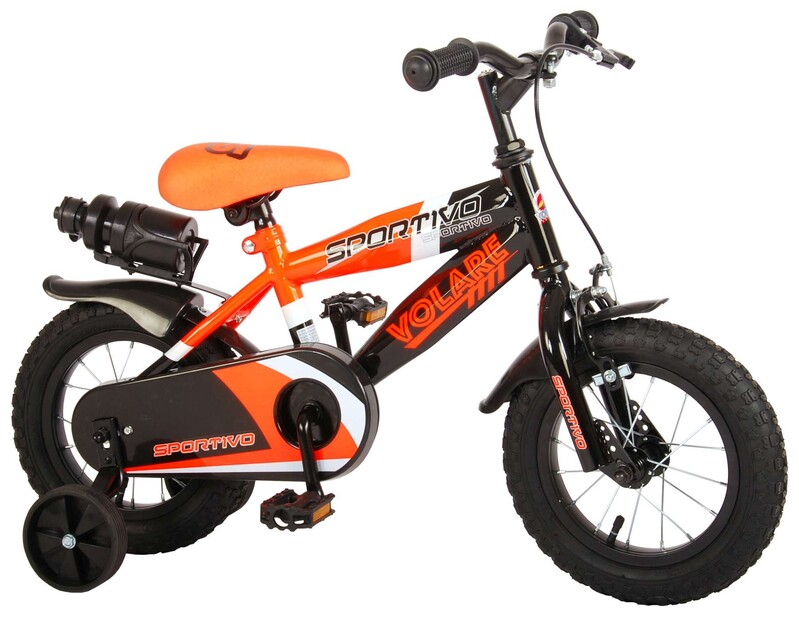 "VOLARE - Dětské kolo pro chlapce Sportivo Neon Orange Black 12 "" - složený na 95%"
