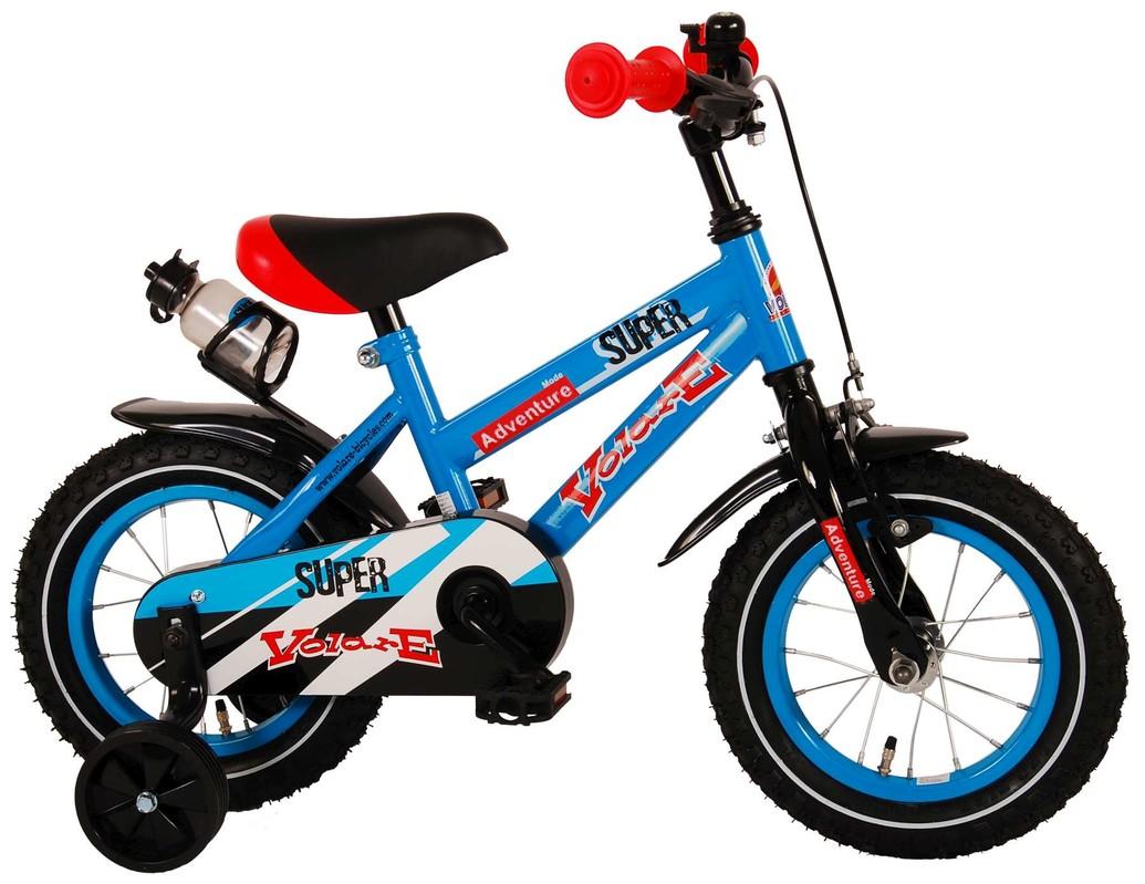 """VOLARE - Dětské kolo pro chlapce ,,SUPER"""" - modrý, 12 """" - složený na 95%"""