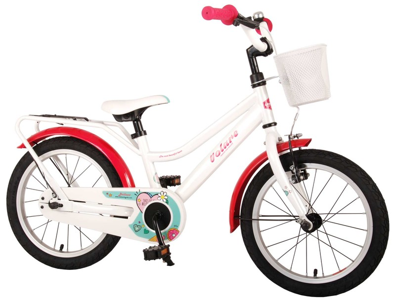 """VOLARE - Dětské kolo pro dívky Brilliant - bílý, 16 """""""
