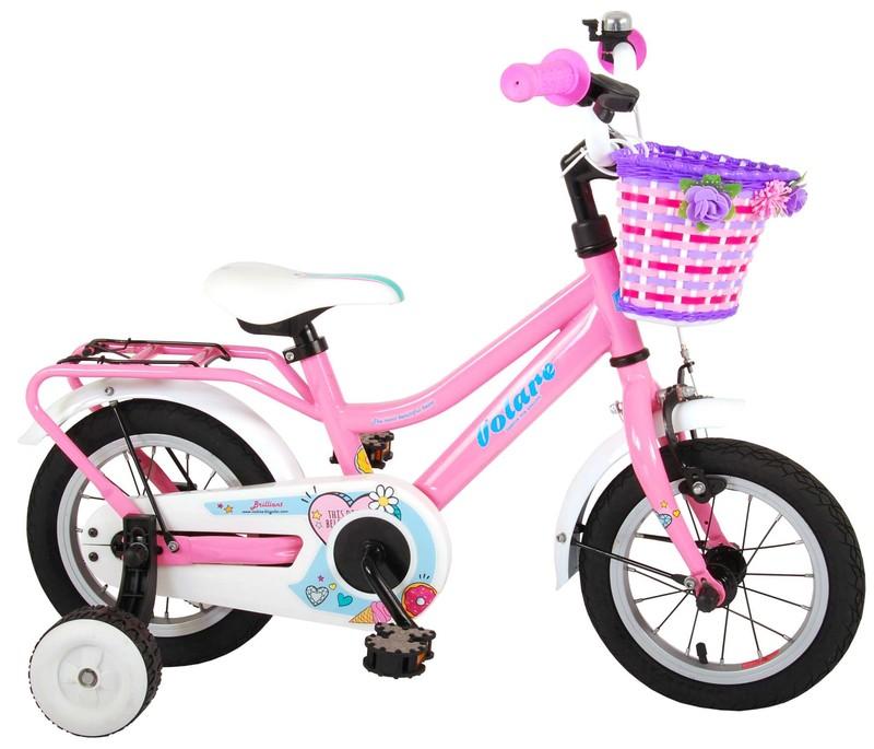 """VOLARE - Dětské kolo pro dívky Brilliant - růžový, 12 """""""