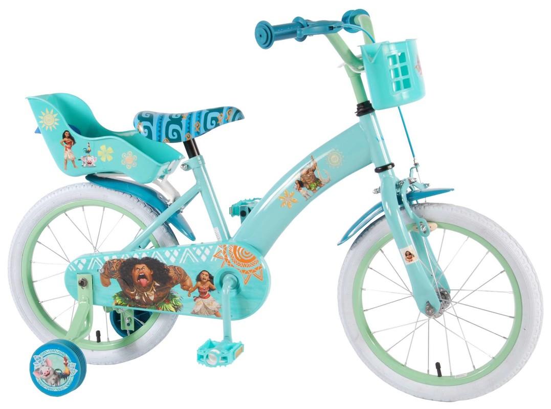 """VOLARE - Dětské kolo pro dívky, Disney Vaiano,, 16 """"- modrý"""