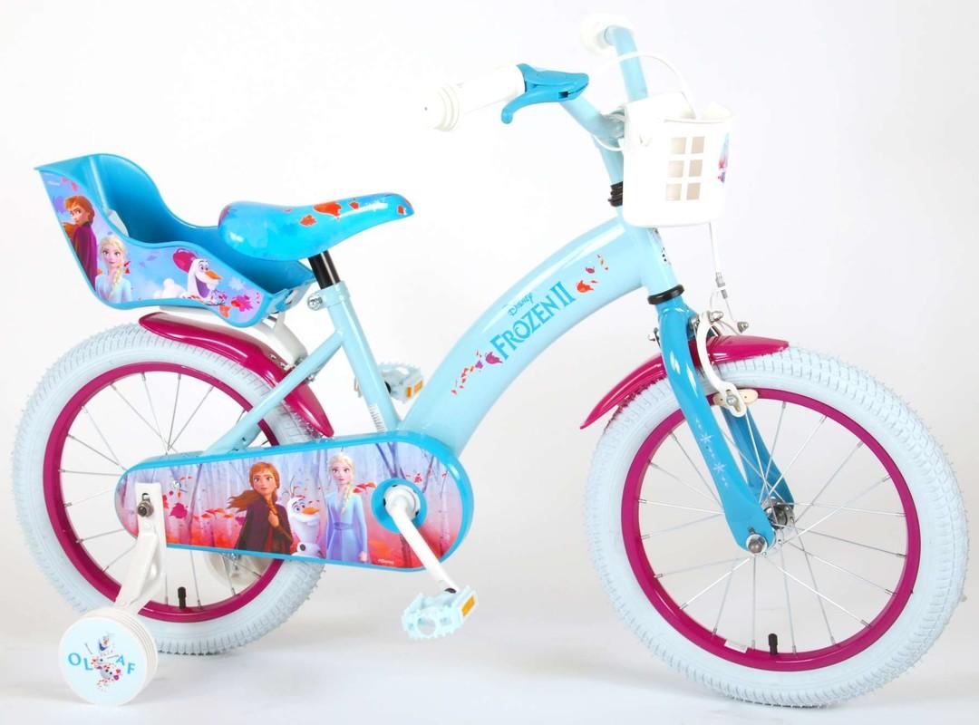 """VOLARE - Dětské kolo pro dívky FROZEN II - modrý - růžový, 12 """""""