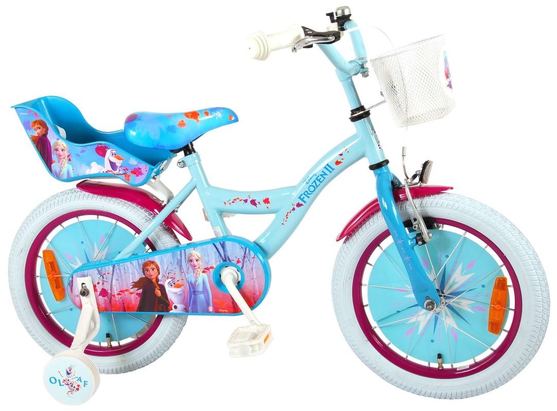 """VOLARE - Dětské kolo pro dívky FROZEN II - modrý - růžový, 16 """" - složený na 95%"""