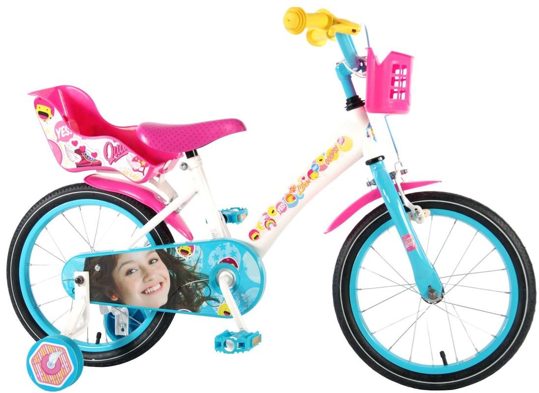 """VOLARE - Dětské kolo pro dívky, Luna,, 16 """"- bílo - modrý"""