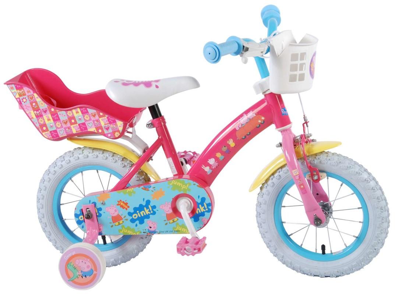 """VOLARE - Dětské kolo pro dívky, Peppa Pig,, 12 """"- růžový"""