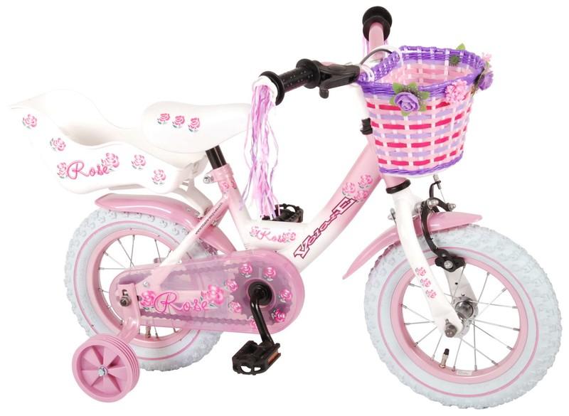 """VOLARE - Dětské kolo pro dívky Rose - růžový, 12 """" - složený na 95%"""