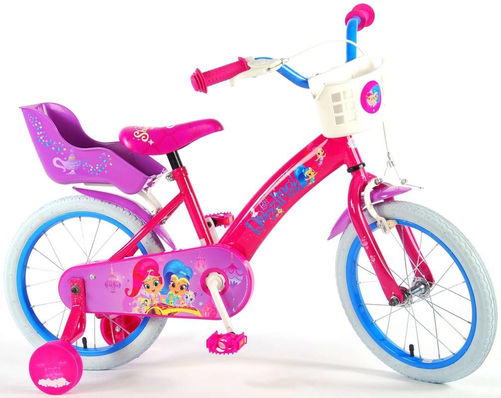 """VOLARE - Dětské kolo pro dívky, Shimmer & Shine,, 16 """"- růžový"""