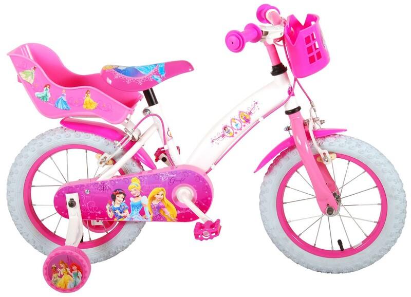 """VOLARE - Disney Princess dětský kola pro dívky 14 """"Pink"""