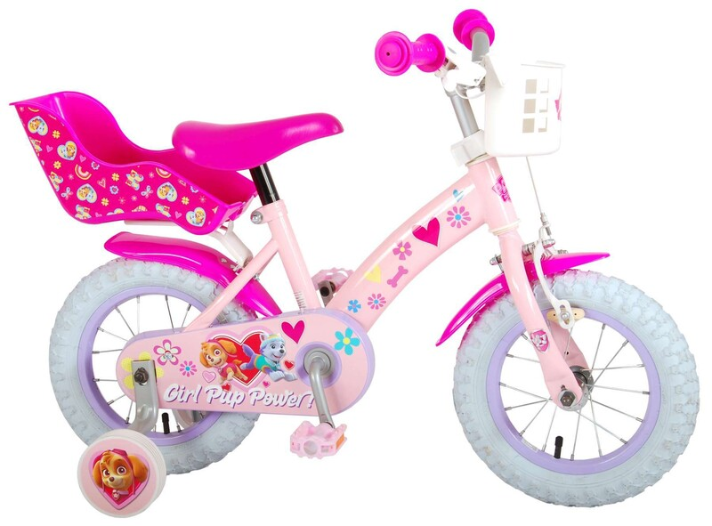 """VOLARE - Paw Patrol Dětské kolo 12 """"- Pink"""