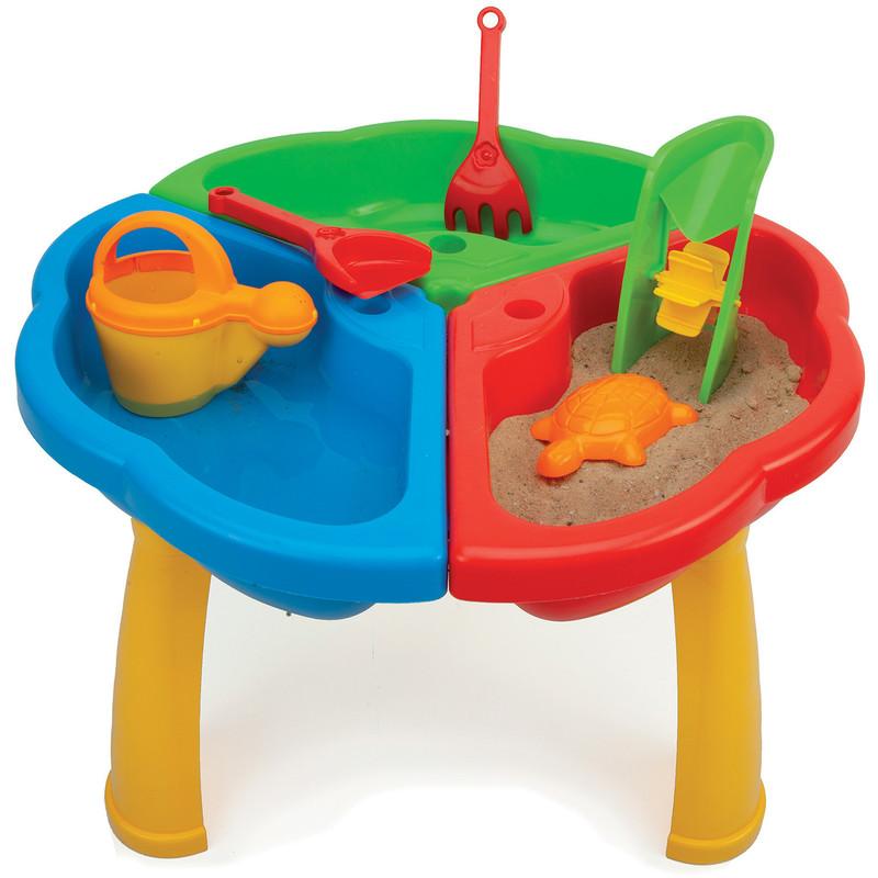 WADER - Stůl s hračkami na písek a vodu 72000