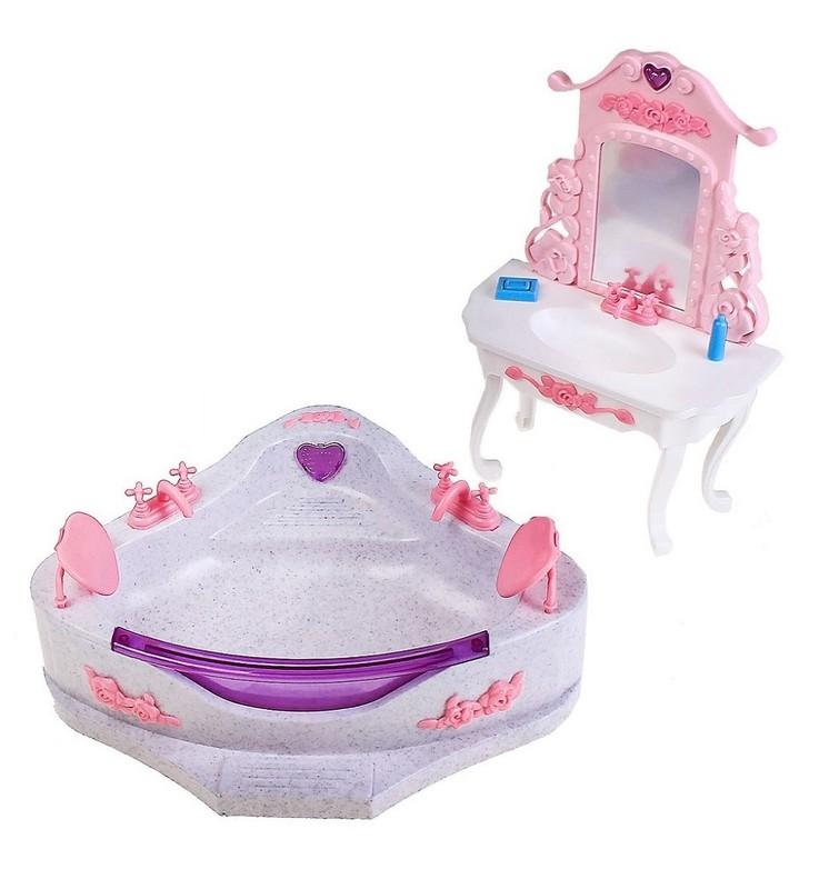 WELL TOYS - Koupelnový nábytek Heart SPA pro Barbie