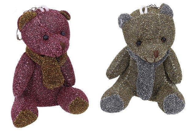 WIKY - Klíčenka Medvídek lesklý