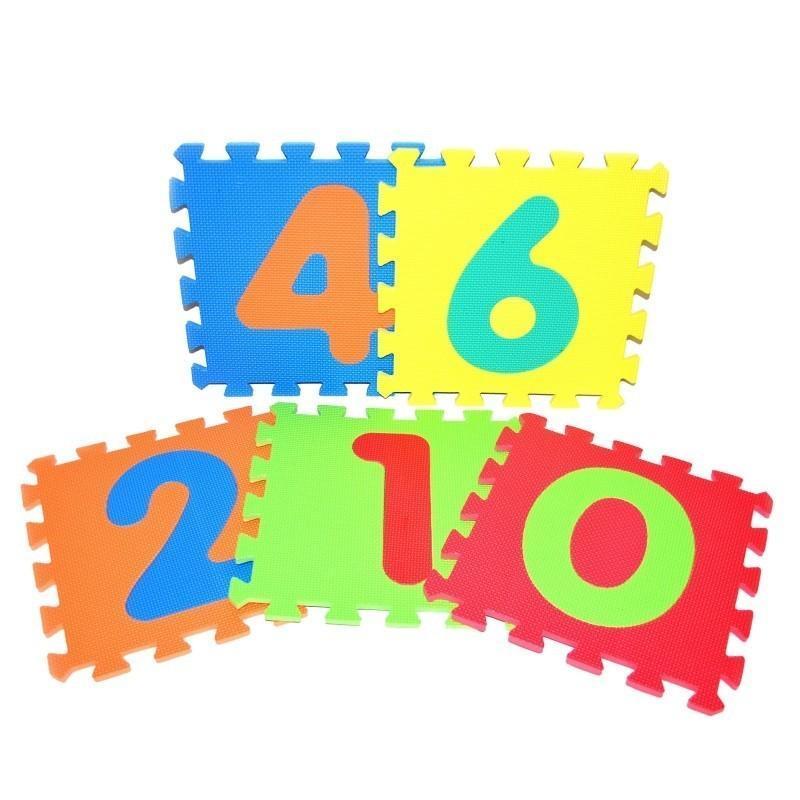 WIKY - Měkké puzzle bloky číslice 30x30cm