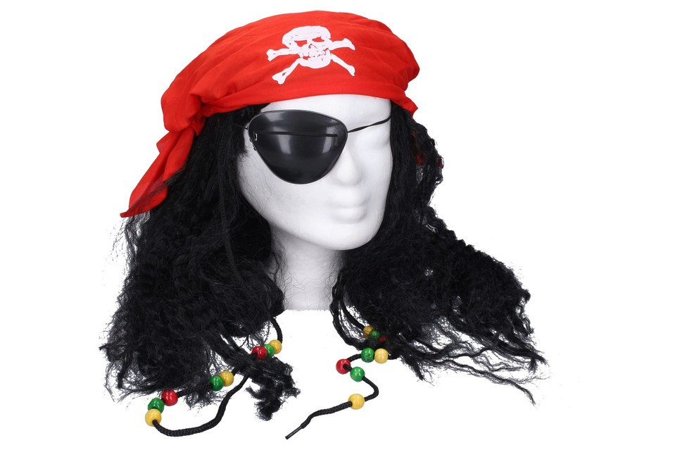 WIKY - Paruka pirát s doplňky